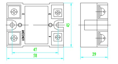 固体继电器的接线图